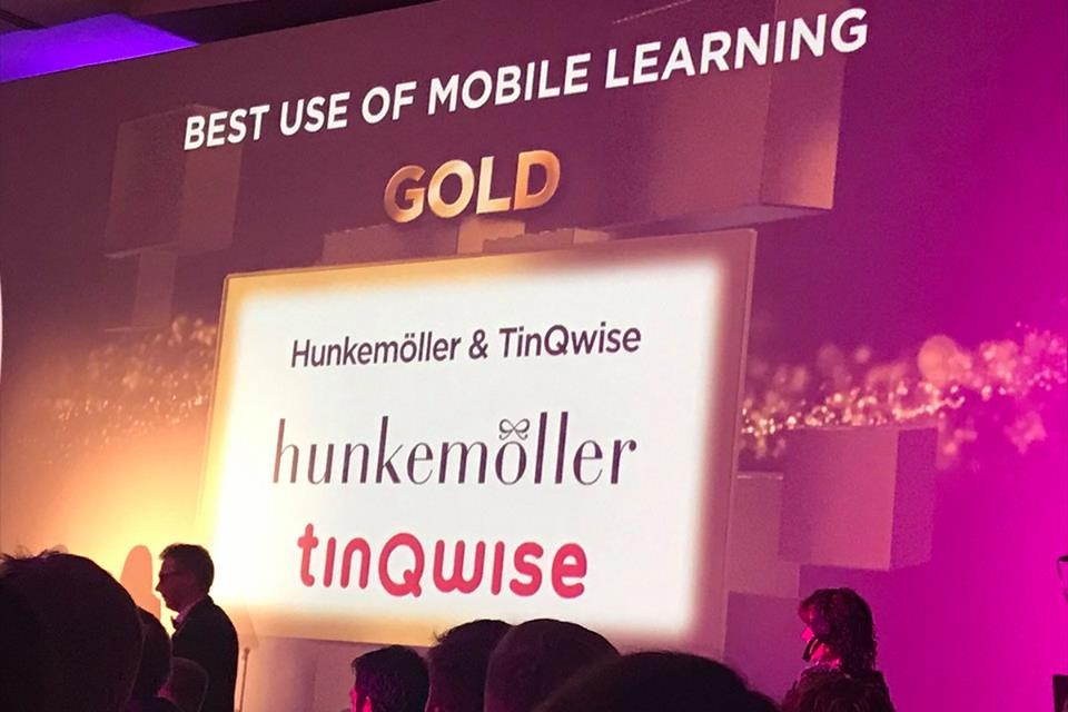 'Best use of mobile learning': another golden award for Hunkemöller & TinQwise – Live it Up!