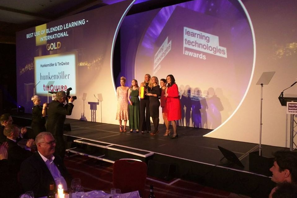 Gold for 'Best use of blended learning' goes to Hunkemöller & TinQwise – Live it Up!