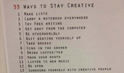 4. Creativiteit is key!